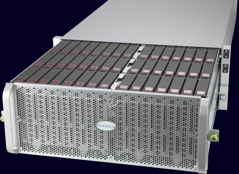 展碁國際取得Supermicro在台經銷權,圖為60槽和 90槽解超高密度儲存解...
