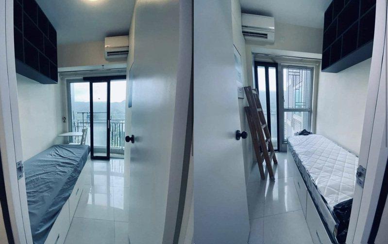 香港的分租雅房月租1萬8台幣,冷氣竟要和隔壁間「一人一半」。圖擷自香港高登討論區