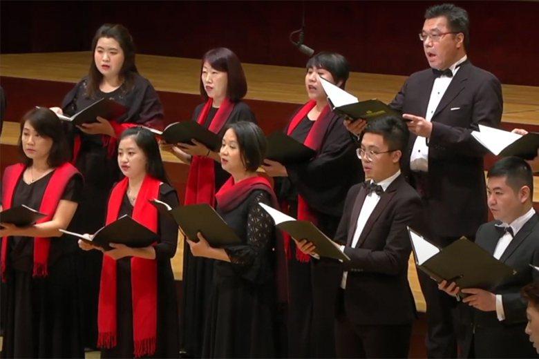 7月26日,台北國際合唱音樂節在國家音樂廳演出時發生地震,現場國家級警報大響。 圖/取自台北國際合唱音樂節