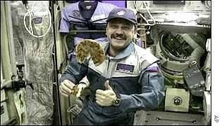 歷史上第一位在太空中吃Pizza的俄羅斯太空人Yuri Usachov,對於Pi...