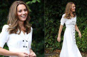 不愧是舊衣重穿女王!凱特「同件洋裝重複穿」,配件一換展現全新風格