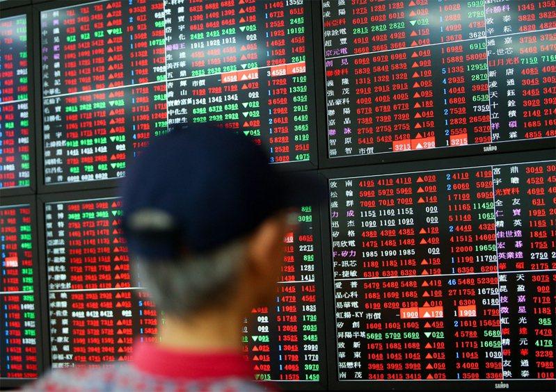 台股終場上漲92.38點,收在12,802.3點,成交量達2,389.92億元。示意圖/聯合報系資料照