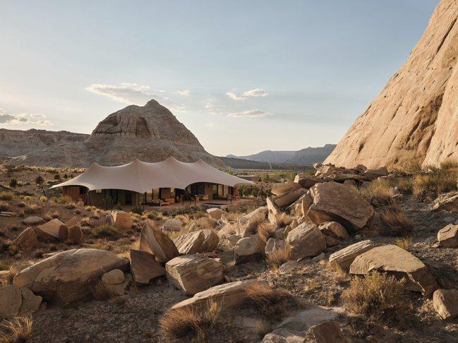 「安縵奇嶺Sarika營地」位於美國猶他州沙漠的隱居之所。 圖/安縵提供