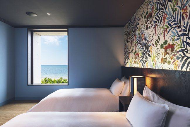 「虹夕諾雅 沖繩」的客房海景。 圖/星野集團提供