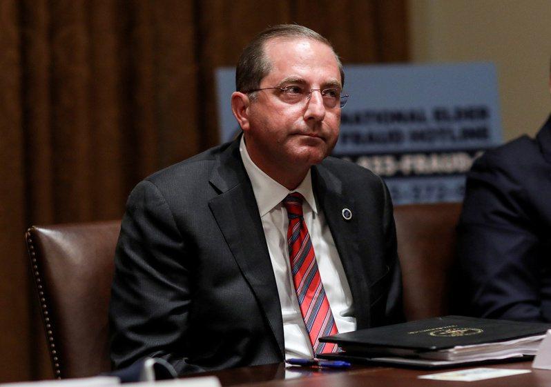 美國衛生部長艾薩計劃下週訪問台灣,是睽違6年後首位訪台的美國部長級官員。 路透