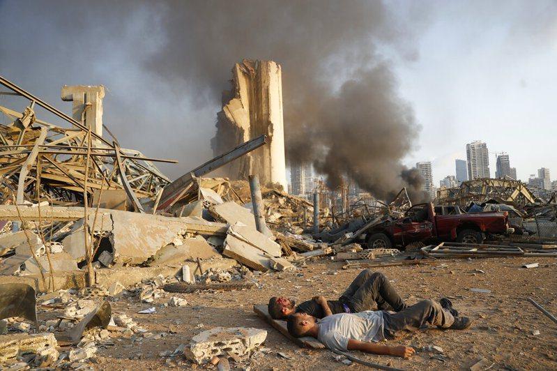 黎巴嫩首都貝魯特4日發生大爆炸,爆炸威力猛烈。 圖/美聯社