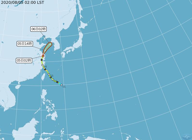 哈格比颱風。圖/取自氣象局網站