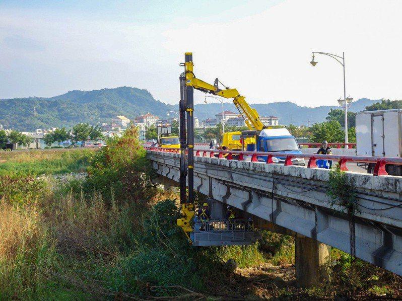全國橋樑評鑑,台中市在檢測及維護,拿六都第一。圖/台中市建設局提供