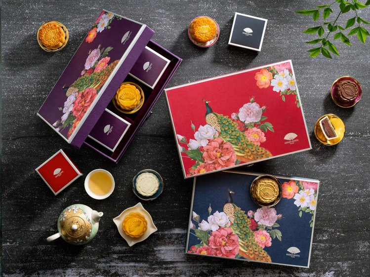 台北文華東方酒店中秋月餅禮盒有「星」味。圖/台北文華東方酒店提供