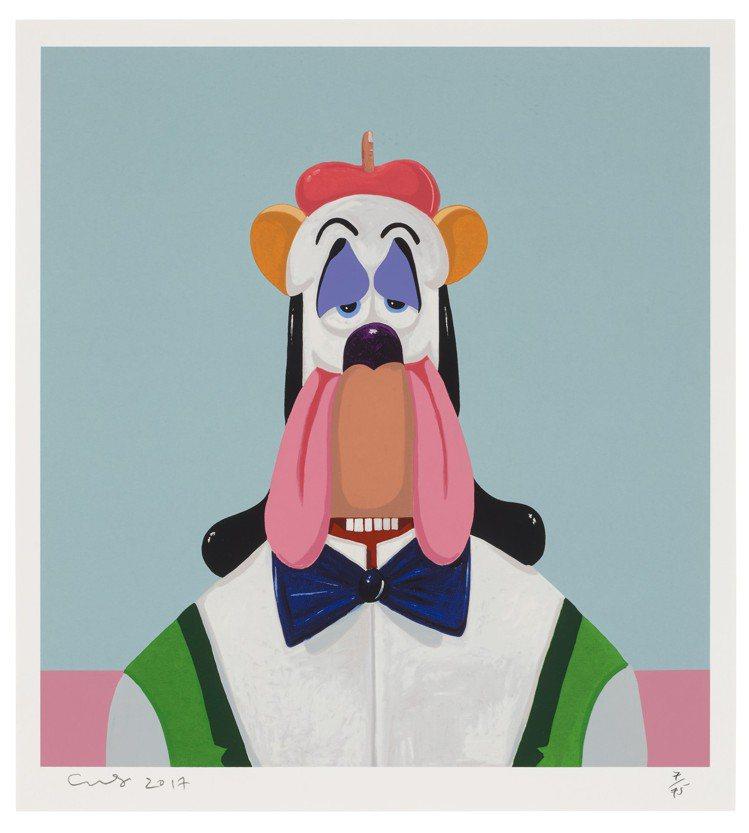 喬治康多「Droopy Dog Abstraction」彩色絲網印刷Covent...