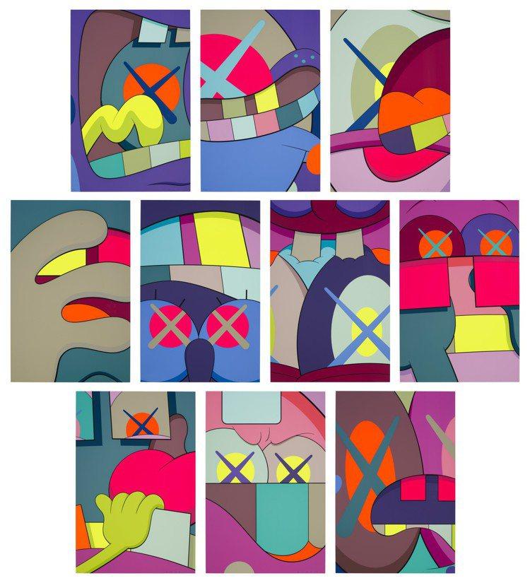 KAWS「Ups and Downs」全套十幅彩色絲網印刷版畫,估價60,000...