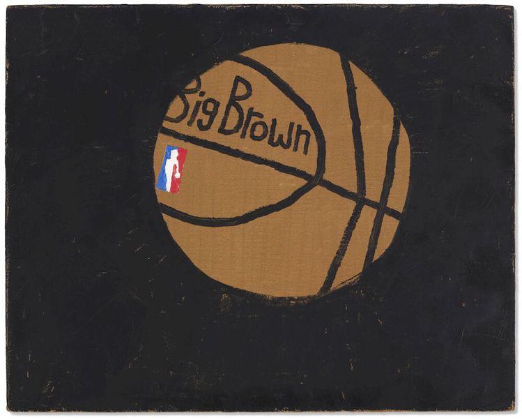 喬納斯伍德「Big Brown」油畫,估價50,000美元起。圖/佳士得提供