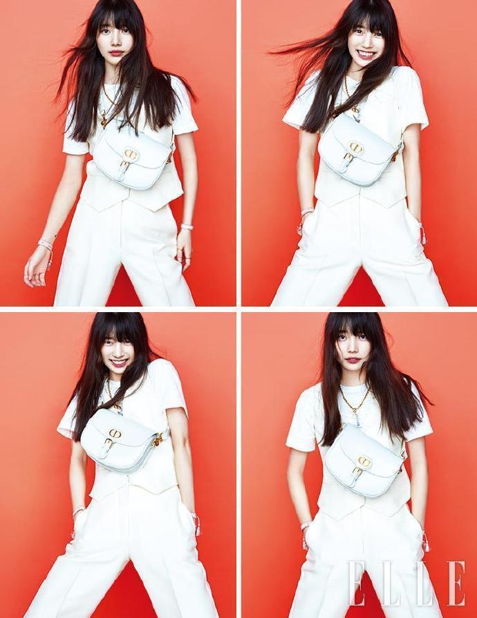 秀智在韓國版《ELLE》展現表情包。圖/取自微博