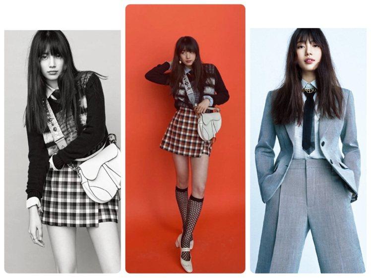秀智以風情萬種的姿態登上韓國版《ELLE》雜誌。圖/取自微博及IG