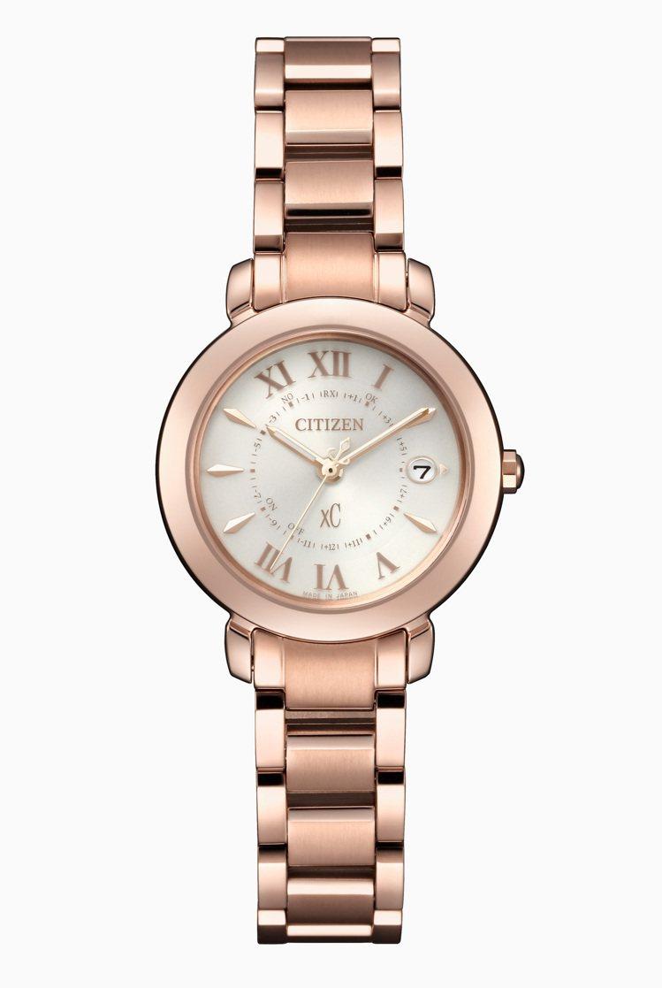 CITIZEN ES9442-55A腕表,不鏽鋼表殼、表鍊鍍粉紅金,29,900...
