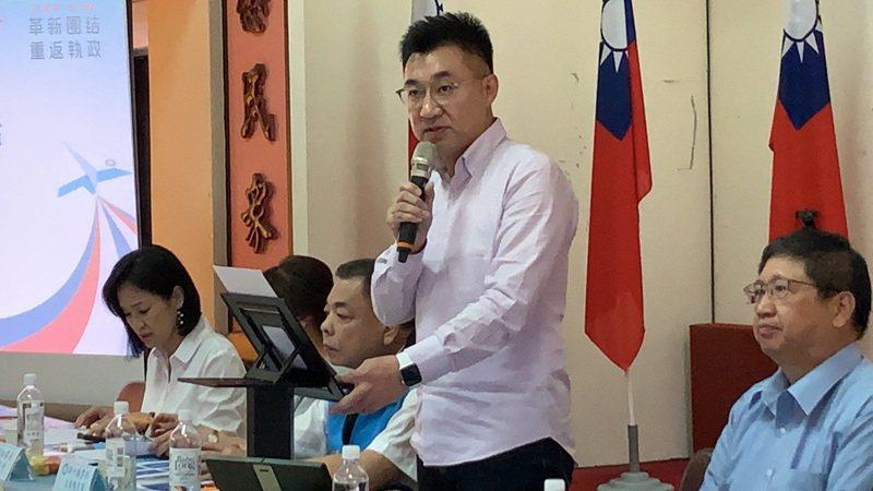 國民黨行動中常會今天下午在新竹縣舉行,黨主席江啟臣致詞時表示,清廉是從政的基礎,更是政黨取信人民的基石。記者陳斯穎/攝影