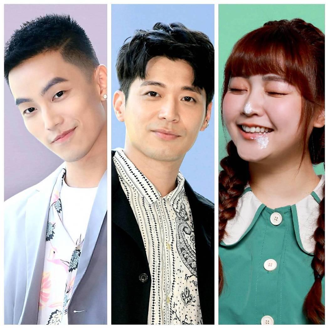 徐謀俊(左起)侯彥西、喬雅琳是「我的青春沒在怕」三位稱職綠葉。圖/三立提供