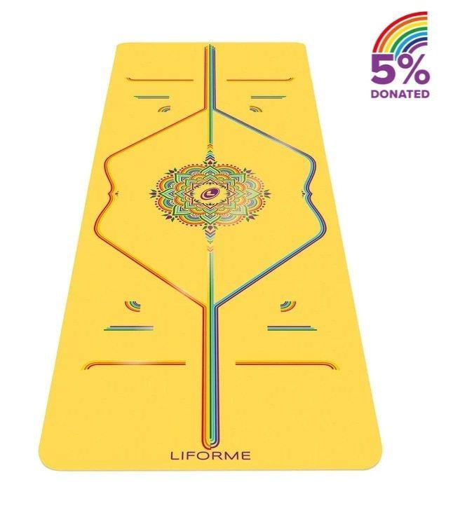 彩虹希望限定經典瑜珈墊,純天然橡膠/專利環保PU,重量約2.5公斤,長185公分...
