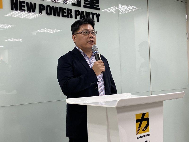 時代力量立院黨團總召邱顯智。記者蔡晉宇/攝影
