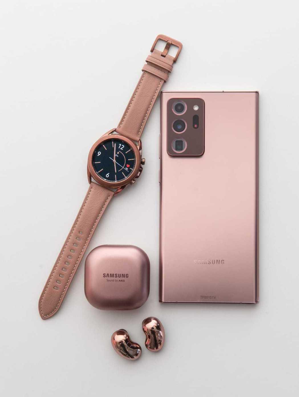 銅色(Mystic Bronze)是Samsung Galaxy Note20系...