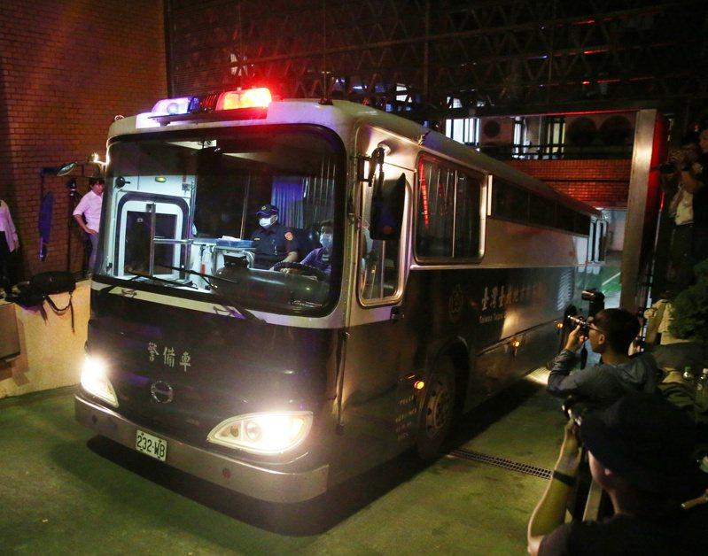 北院日前裁定涉賄3立委羈押禁見,送往台北看守所。圖/聯合報系資料照片