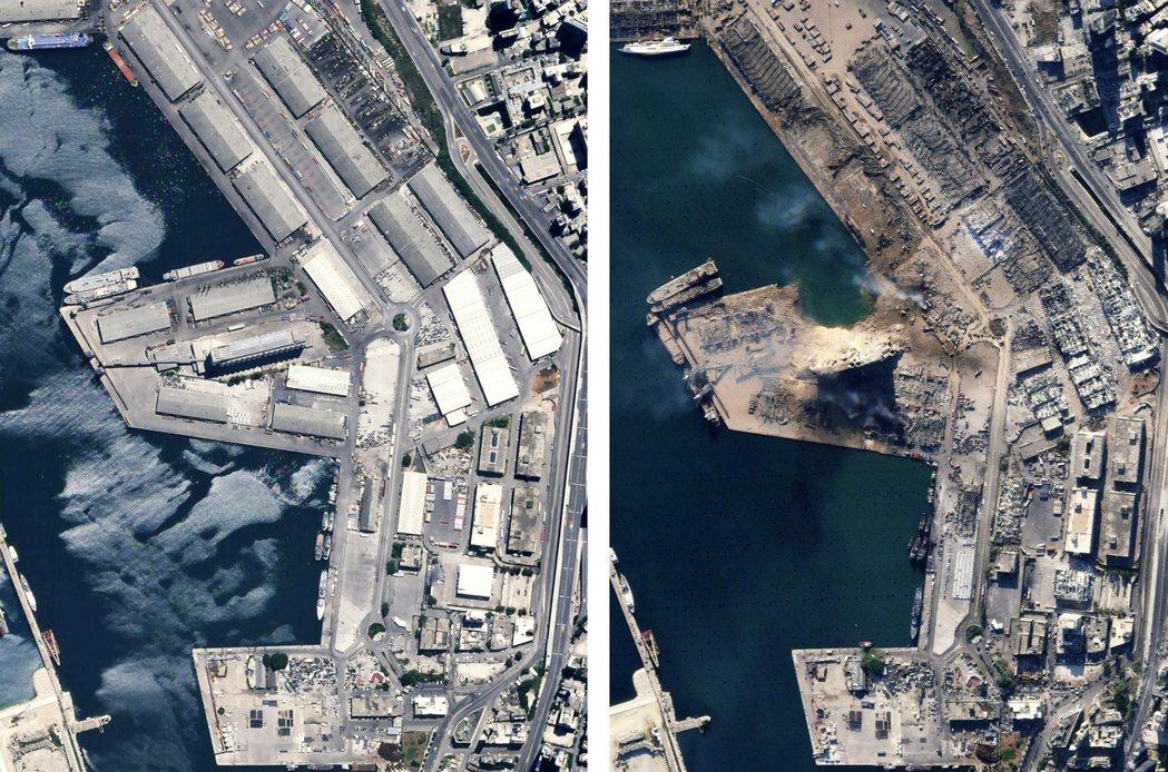 事發地點的港口工業區近乎全毀、周邊建築物都有嚴重程度不一的破損,不過《BBC》引...