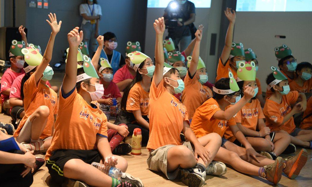 日月光三熊兒童環教成長營活動剪影。 日月光/提供。