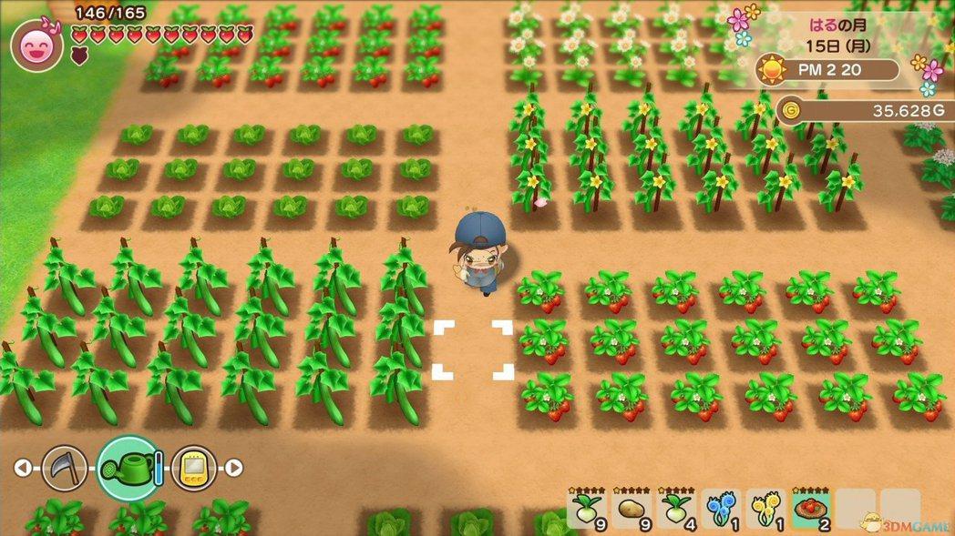 開墾、栽種、耕作、收成,是牧場物語最基本的玩法。