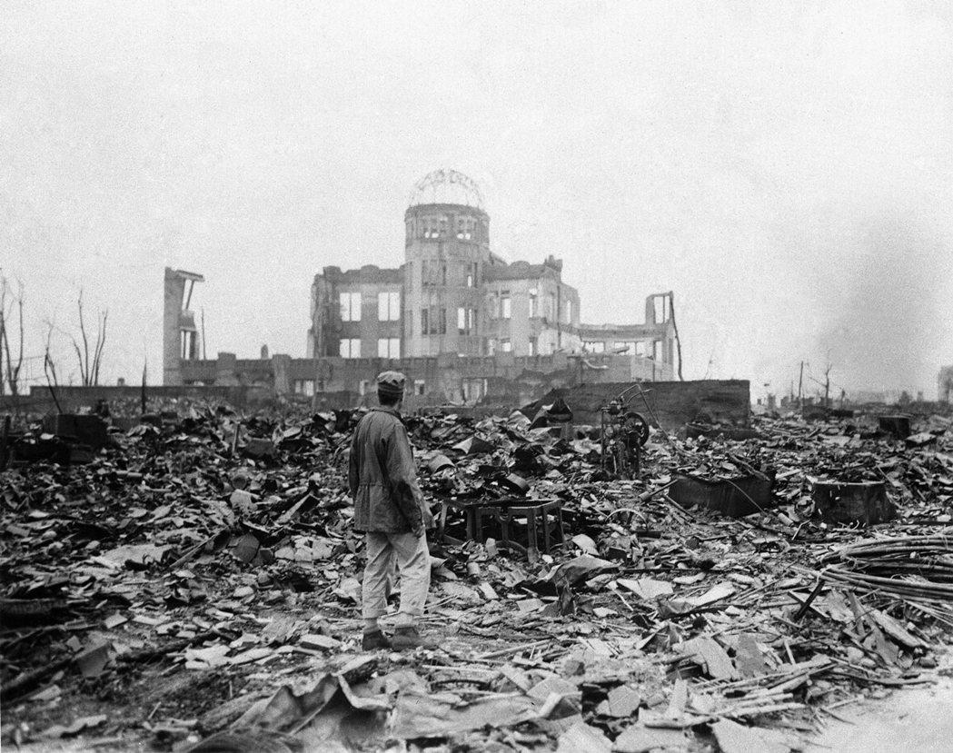 廣島原爆後的市容,資料照片。 圖/美聯社