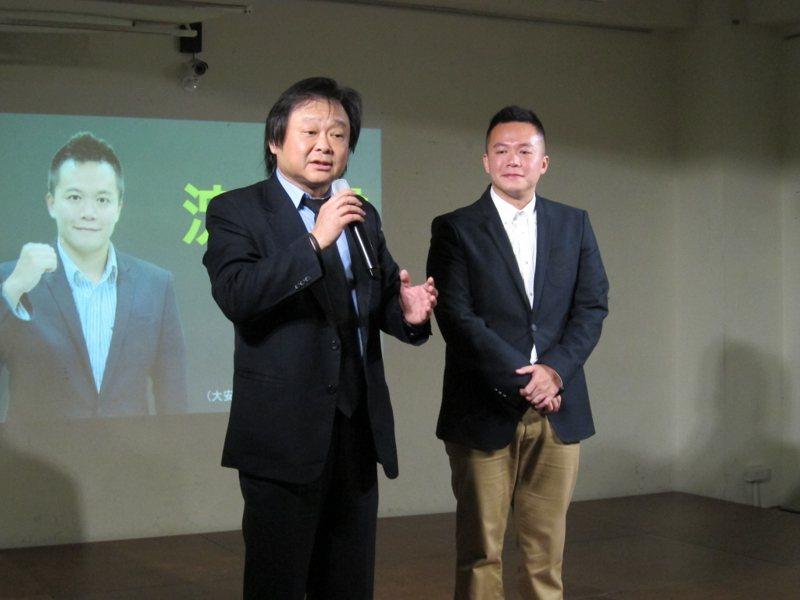 民進黨台北市議員王世堅辦公室主任沈志霖(右)。 聯合報系資料照