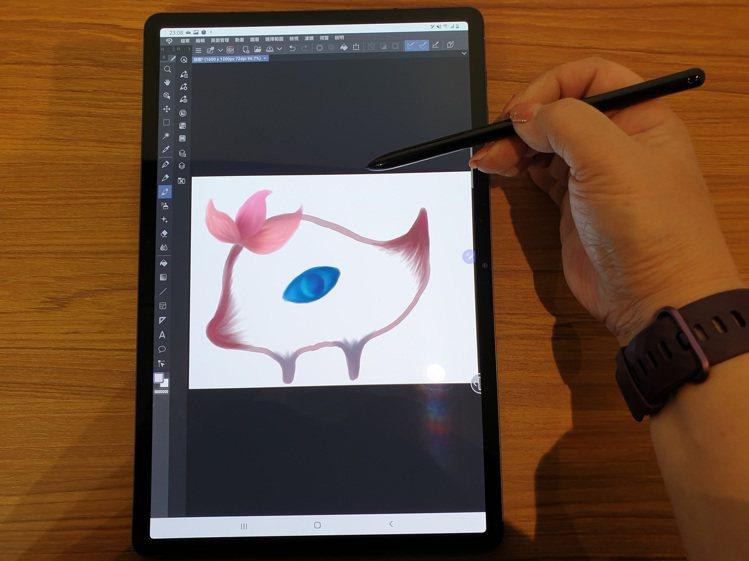 「Clip Studio Paint」App透過Samsung Galaxy T...