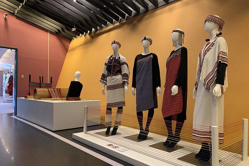 融合現代設計概念的泰雅服飾,既傳統又時尚。 十三行博物館/提供