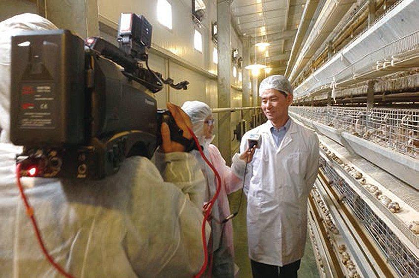 負責人薛峻鴻接受媒體採訪。 農科院/提供