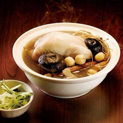 富山香檳雞湯料理及特色產品。 農科院/提供