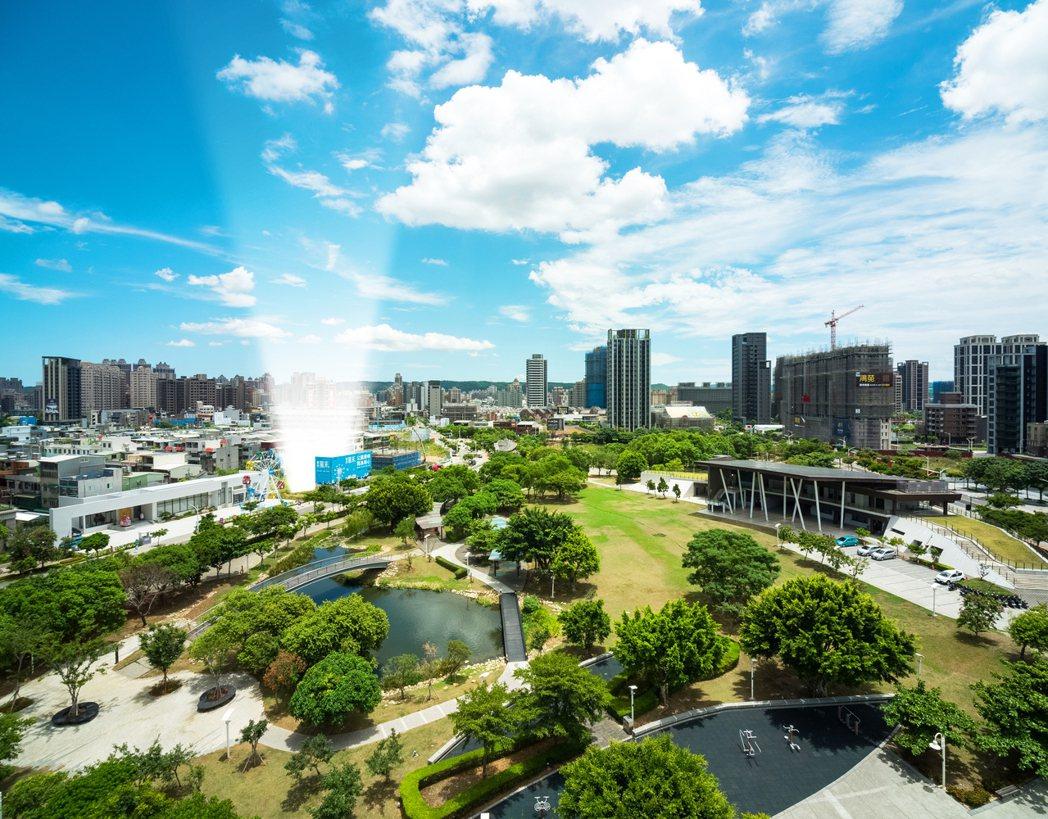 桃園風禾公園周邊坐享萬坪景觀綠地,交通便利、生活機能佳、增值空間大。創意家行銷/...