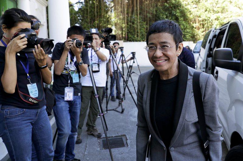 菲律賓獨立新聞網站「拉普勒」創辦人瑞薩,現因網路誹謗罪保釋中。美聯社