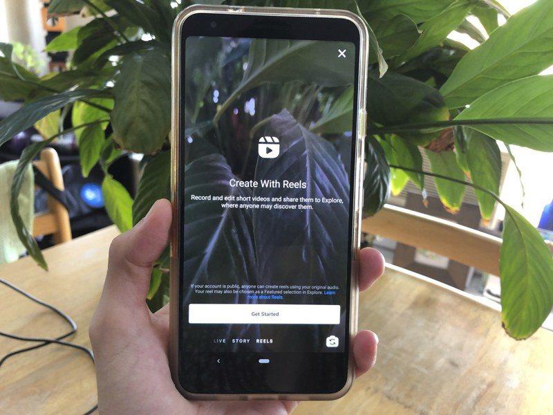 社群平台Instagram推出新功能Reels能讓用戶錄製最長15秒的影片,並可加以剪輯、配上音效及特效。美聯社