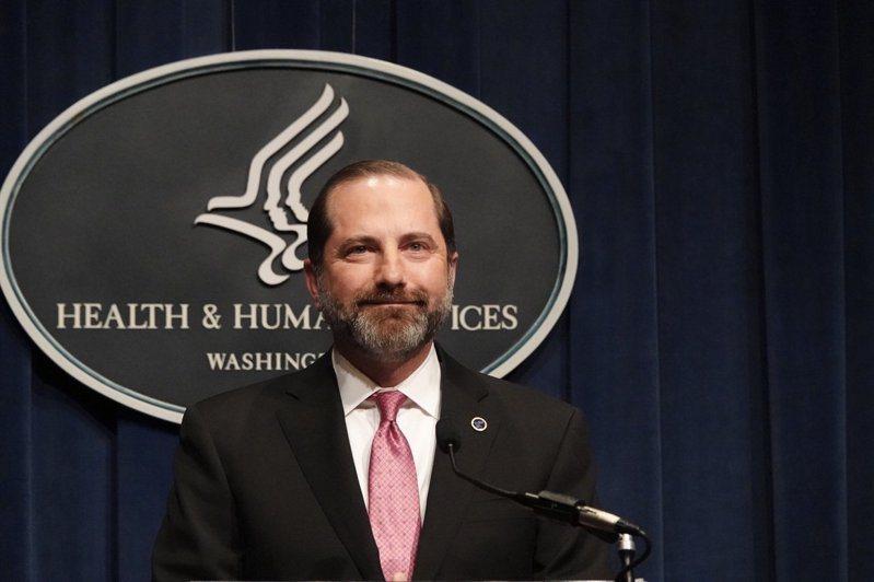 美國衛生部長阿查爾(Alex Azar)將於近日訪台灣。 華盛頓記者張文馨/攝影