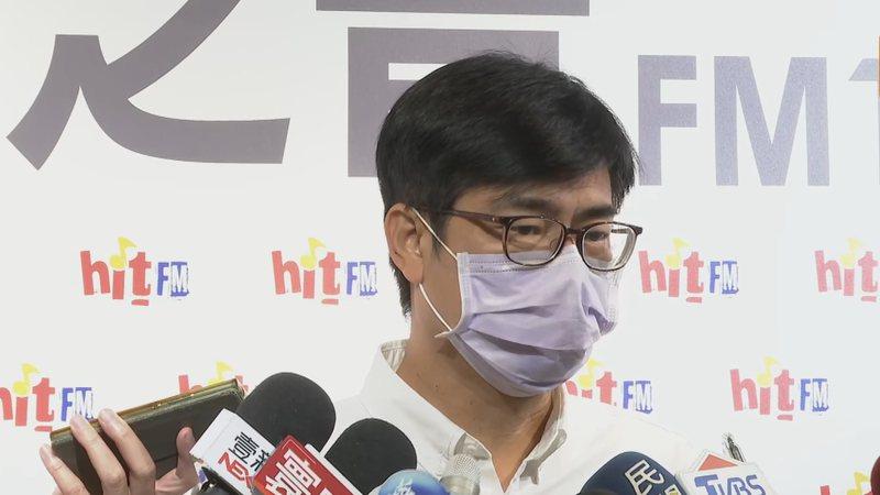 民進黨高雄市長補選候選人陳其邁接受媒體聯訪。記者莊昭文/攝影