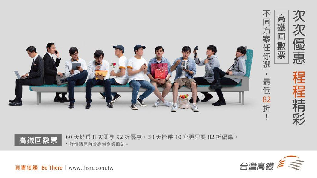 台灣高鐵公司回數票限時優惠,會員10月31日內搭完贈三倍點數,滿5,000再贈七...