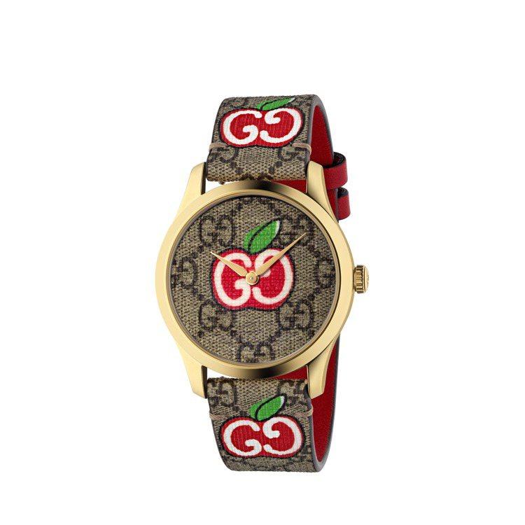 G-Timeless蘋果印花表,32,000元。圖/GUCCI提供