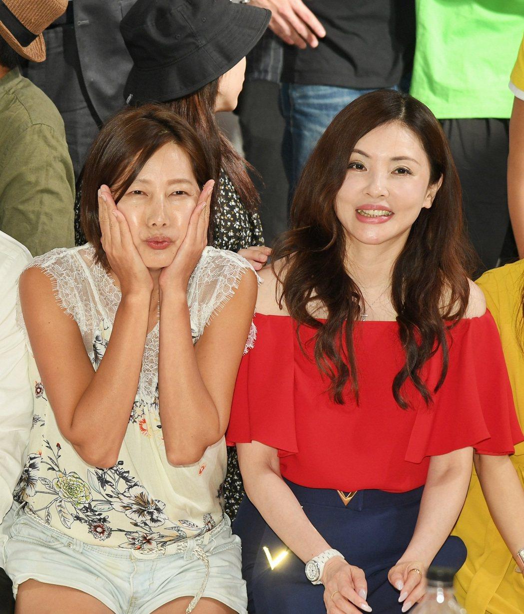 何如芸(右)和丁寧是同公司的好姊妹。圖/三立提供