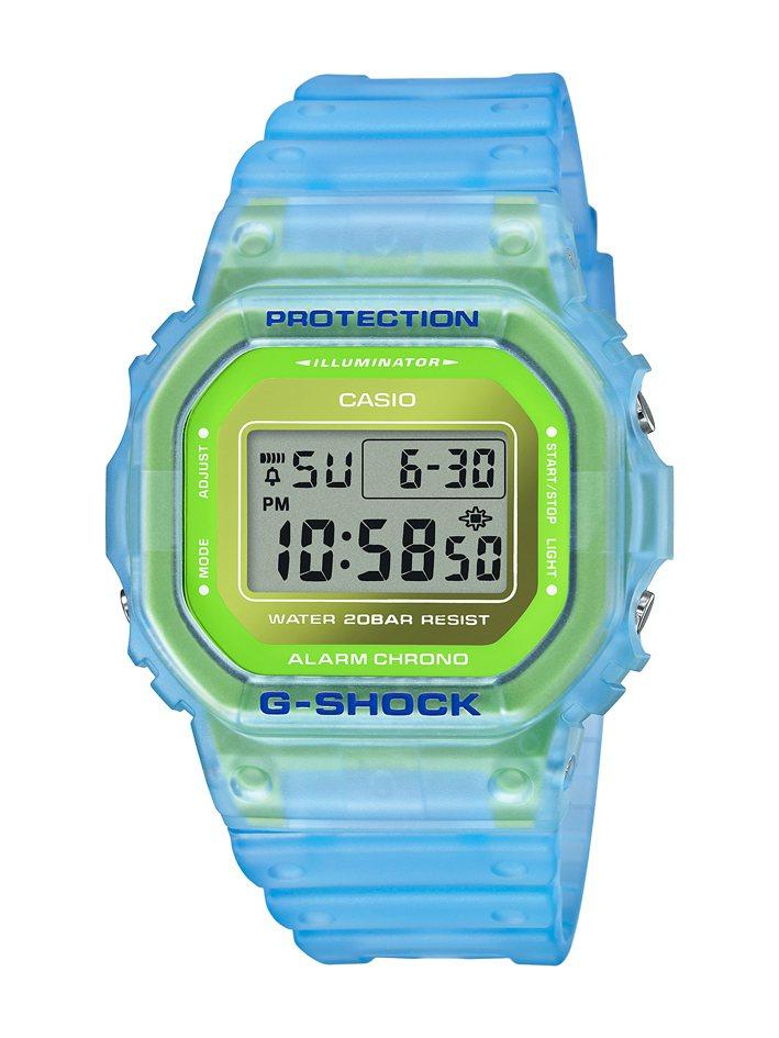 G-SHOCK DW-5600LS-2腕表3,600元。圖/CASIO提供