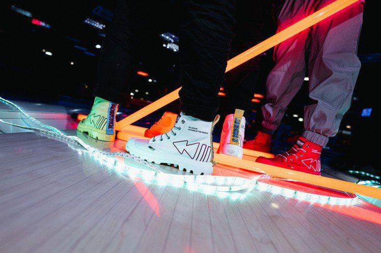 Palladium以經典的PAMPA與PALLAKIX鞋型為基礎,注入電音元素、...