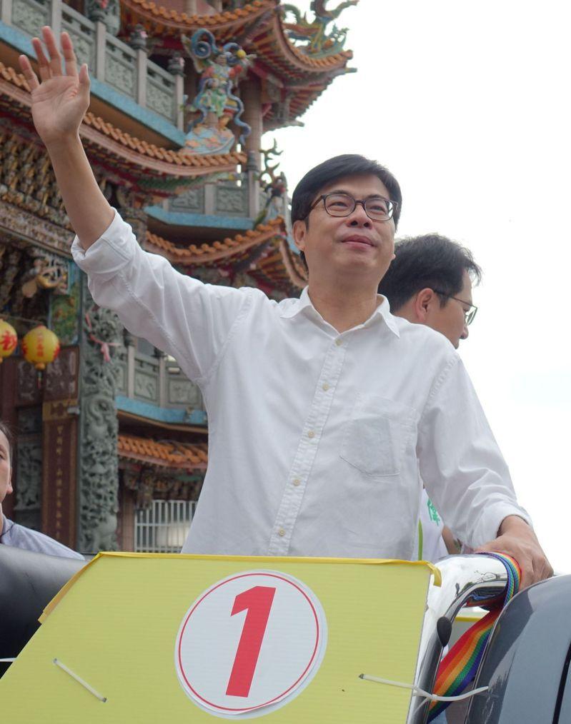民進黨高雄市長補選候選人陳其邁盼能正面選舉,不要惡意抹黑。記者楊濡嘉/攝影