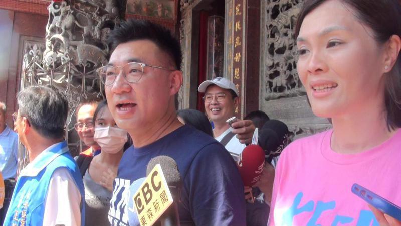 國民黨主席江啟臣表示,貪腐不能回來高雄。記者王昭月/攝影