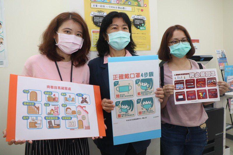 高雄市教育局加強補習班稽查與宣導,提醒師生戴口罩防疫。記者徐如宜/攝影