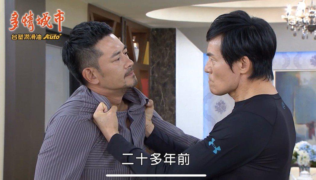 霍正奇(右)、柯叔元在劇中終於相認,但兄弟情也宣告破滅。圖/摘自youtube
