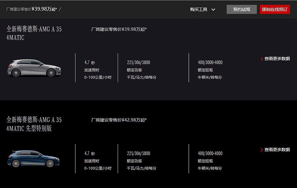 北京奔馳宣布導入進口版Mercedes-AMG A 35 4MATIC掀背車型,...