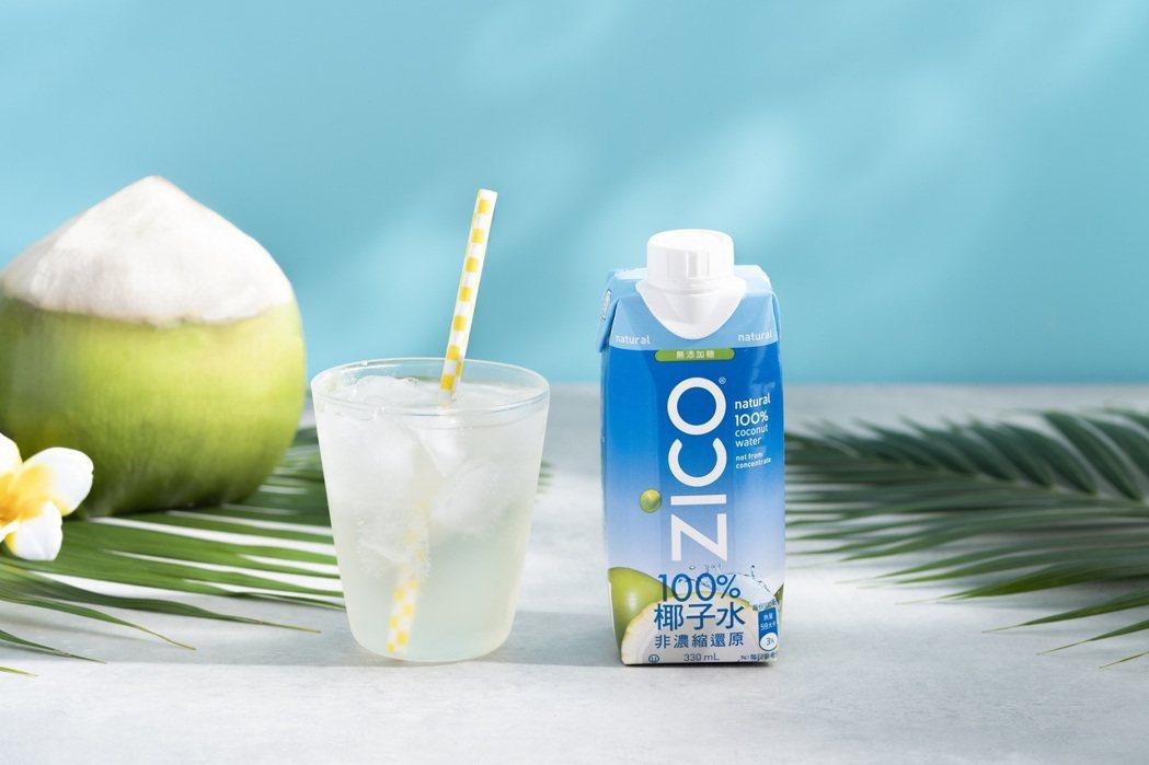 「ZICO樂酷」椰子水為非濃縮還原的100%天然椰子水,無添加糖且低熱量,成為夏...